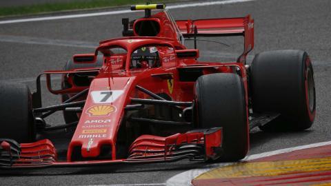 Kimi Räikkönen en el GP de Bélgica