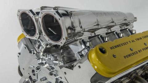 El motor del Hennessey Venom F5