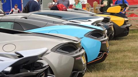 parking del Goodwood Festival of Speed