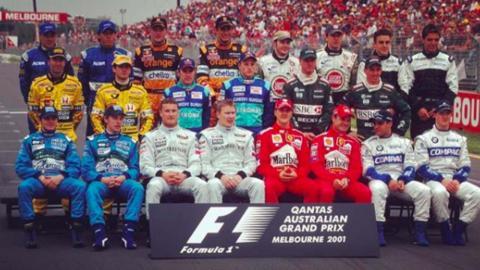 Parrilla de F1 de 2001