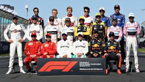 Parrilla de F1 2018