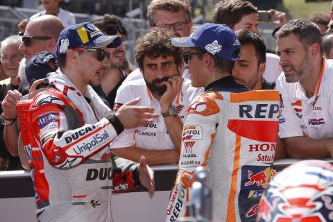 Sigue el buen rollo entre Marc Márquez y Jorge Lorenzo