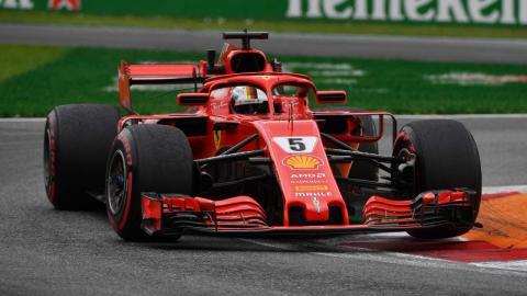 Vettel en los Libres 2 de Monza