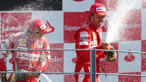 Alonso en el GP Italia 2010