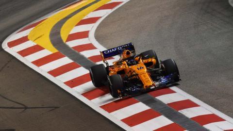 Alonso en el GP de Singapur