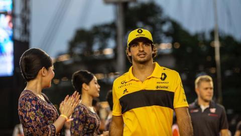 Carlos Sainz en el GP Singapur