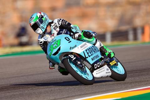 Enea Bastianini encabeza los Libres Moto3 Aragón 2018