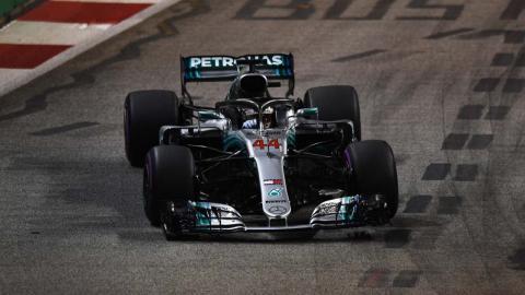 Hamilton en el GP de Singapur