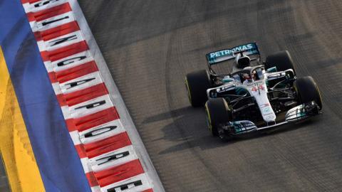 Lewis Hamilton en Singapur