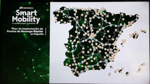 Mapa de puntos de carga de Iberdrola