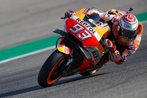 Marc Márquez domina los Libres MotoGP Aragón 2018