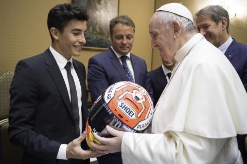 MotoGP visita al Papa Francisco