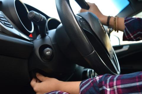 Postura de conducción