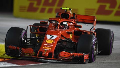 Raikkonen en el GP de Singapur