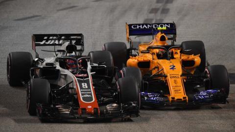 Romain Grosjean y Stoffel Vandoorne