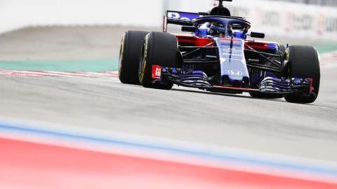 Toro Rosso en los entrenamientos de Rusia