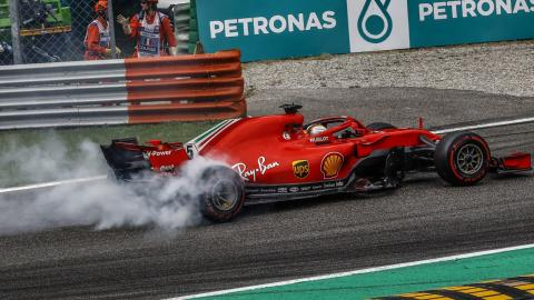 Trompo de Vettel en Monza