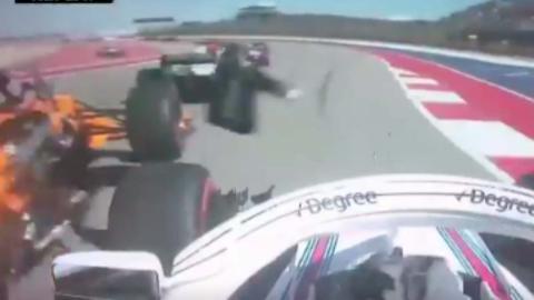 Accidente Alonso y Stroll