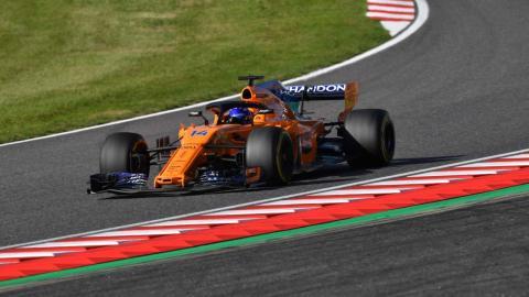 Alonso en el GP Japón 2018