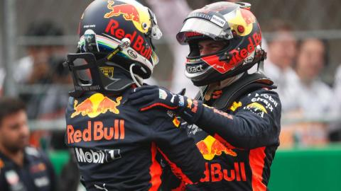 Daniel Ricciardo y Max Verstappen