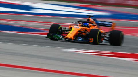Fernando Alonso en el GP EEUU