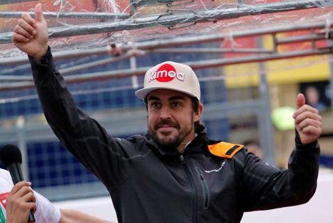 Fernando Alonso, en el GP de México 2018