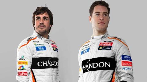 Fernando Alonso y Stoffel Vandoorne Coca Cola