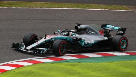 Hamilton en la clasificación del GP Japón