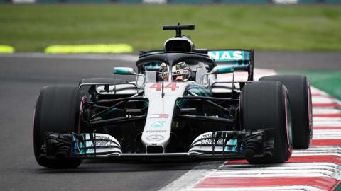 Hamilton en el GP México F1 2018