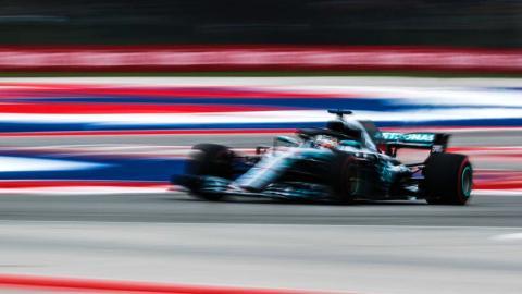 Lewis Hamilton en el GP de EEUU