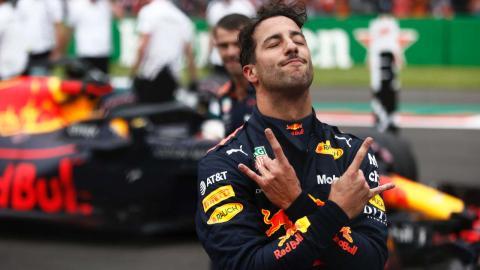 Ricciardo celebración México