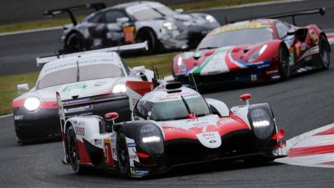 Toyota en las clasificación de Fuji