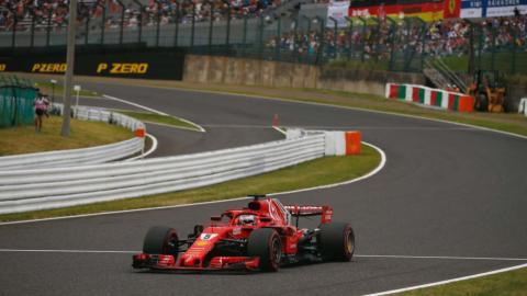 Vettel en la clasificación de Japón