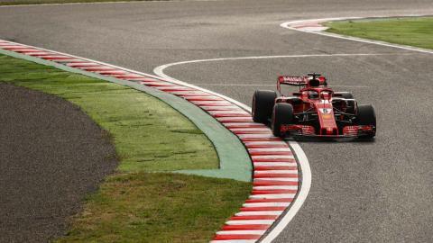 Vettel durante la clasificación del GP Japón