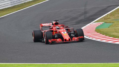 Vettel durante los Libres 1 de Japón