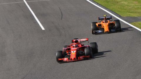 Vettel en el gp de japon