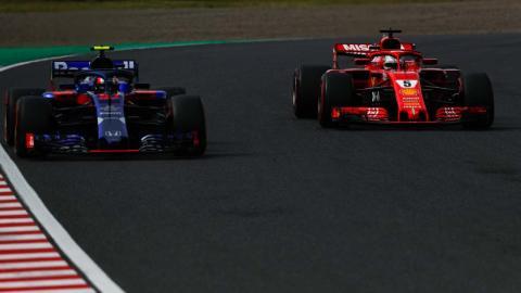 Vettel y Toro Rosso en Japón