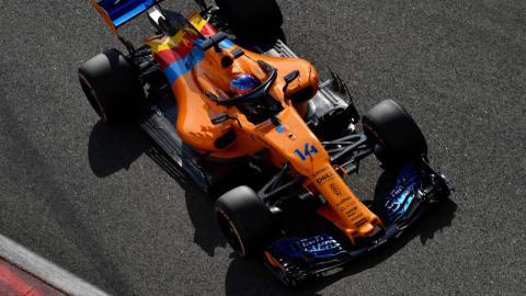 Alonso en la clasificación de Abu Dhabi