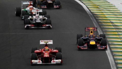 Alonso en el GP Brasil 2012