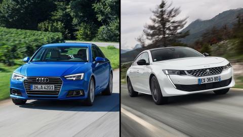 Audi A4 vs Peugeot 508 2019
