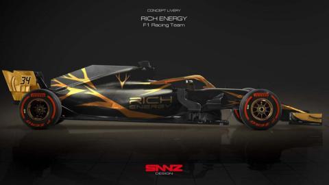 Boceto Haas F1