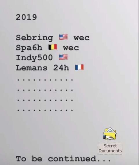 Calendario Alonso 2019