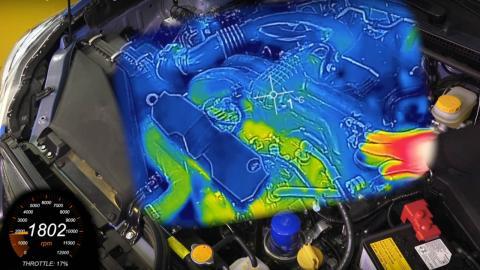 calentar el motor del coche