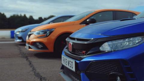 Drag Race: Honda Civic Type R, Renault Mégane RS, Hyundai i30 N
