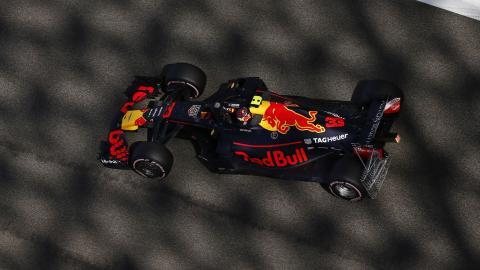 Max Verstappen en el Gran Premio de Abu Dhabi