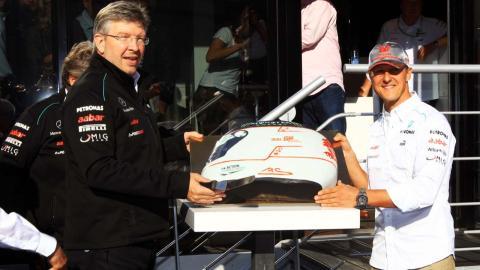 Schumacher y Ross Brawn