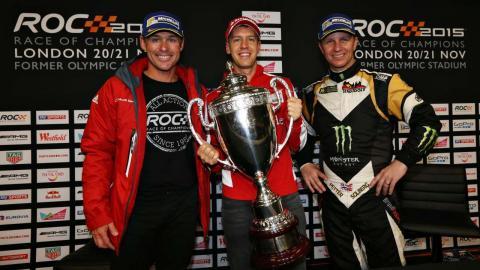 Sebastian Vettel en la Carrera de Campeones