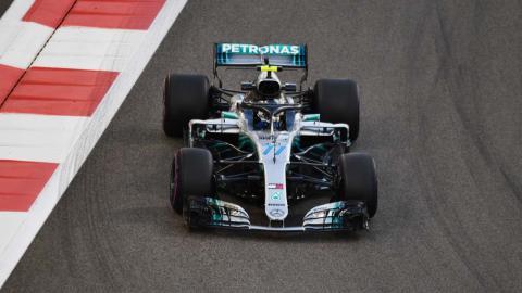 Valtteri Bottas en el GP de Abu Dhabi