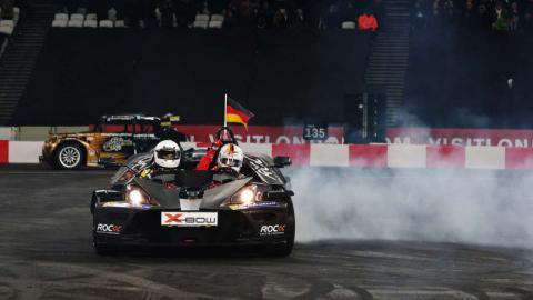 Vettel en la Carrera de Campeones