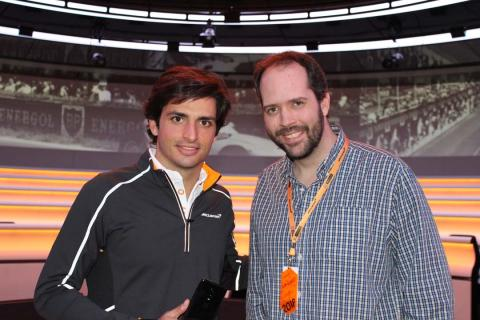 Carlos Sainz y Rodrigo Fersainz, en McLaren.